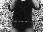 Ruth Glockstein looking for flies on the beach 1988 mark