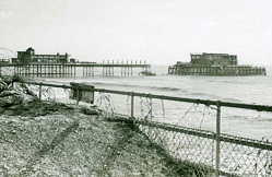 1942 partial dismantling of Worthing Pier thumbnail